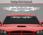 Design #148 REDNECK Tribal Flame Windshield Decal Window Sticker Vinyl Graphic