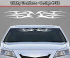 Design #155 Tribal Flame Windshield Decal Window Sticker Vinyl Graphic Banner