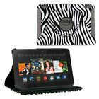 360 Rotating PU Leather Case Skin Cover Stand for Amazon Kindle Fire HDX 7 + PEN