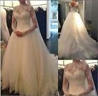 White Ivory Wedding Dress Bridal Gown Bridesmaid Stock Size 6 8 10 12 14 16 18