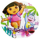 Edible Dora Explorer Cake Topper, Real Icing CakeTopper, Dora Theme Party
