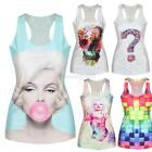 Special Women 3D Gothic Punk Club Cami T-Shirt Printing Tank Top Vest Blouse Hot