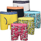 Mens Soul Star Boxer Shorts Plain Graphic Gift Set Trunks 3 Pack Underwear