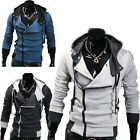 10DAY FAST&CHEAP YOUNG MEN Designer Slim Fit Hooded Cardigan Coat Jacket Hoodies