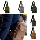 Useful Men's Canvas Military Messenger Shoulder Travel Hiking Fanny Bag Backpack