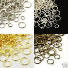 30g Mixed Open Jump Rings Jumprings Tibetan Silver Plated Gold Bronze Red Bronze
