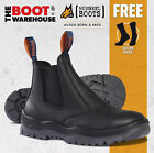 Mongrel 240020 Work Boots. Steel Toe Safety, Black. Elastic Sided, APRON CUT!
