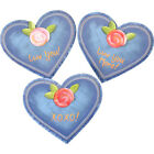 Valentines Denim Heart Magnet The Round Top Collection V8007