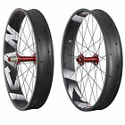 ICAN 26er Carbon Fatbike Wheelset Clincher Tubeless Ready 32/32H 150/197mm