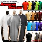 Mens Heavy Weight Plain S/S T-shirts Crew Neck Solid JOHNSON 8 OZ BY JOHNSON
