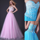 2015 Sexy Beads Corset Evening/Formal/Bridesmaid/Ball gown/Party/Prom Long Dress