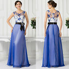 2015 Retro Embellished Long Bridesmaid Prom Ball Gown Formal Evening Party Dress