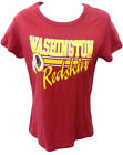 Washington Redskins Football Ladies Redskins Short Sleeve Shirt Burgundy New