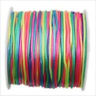 1/6rolls Fashion Assorted Colors Crystal Beading Unelastic Korea Cords Ropes 60M