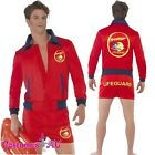 Mens Baywatch Lifeguard Costume Short Jacket Licensed Beach Costume Outfit