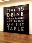 Black And Silver Text, Custom Drink Champagne Splashback   - Any Size / Colour -