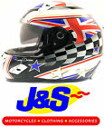BKS FLAG SERIES HELMET UNION JACK UK MOTORCYCLE LID ALL SIZES J&S CRASH HAT