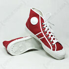 Canvas BASEBALL BOOTS All Sizes Vintage RED Czech Army Military Ankle Trainers