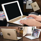 Luxury Aluminum Bluetooth Backlight Keyboard Cover Case For iPad Air 2 iPad 5 6