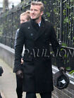 TRENDY MENS PEA COAT TRENCH COAT LONG PARKA WINTER JACKET SUIT BUTTON FORMAL TOP