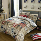 AMERICAN FRESHMAN BRADY DUVET COVER.CHOOSE FROM 3 SIZES.NEXT DAY DELIVERY