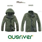 Premium Fashion Men Outdoor Climbing Hiking Sport Travel Ski Jacket Coat Green