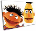 Bert and Ernie Sesame Street Kids Framed Canvas Wall Art Picture Print