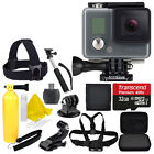GoPro HERO Camera Camcorder Waterproof CHDHA-301 w Head Strap + 32GB Full Kit