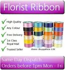 100 Yards x 50mm Florist Poly Ribbon - Any Colour - 1 to 24 Rolls Bulk Deals