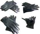 LADIES NEW SOFT GENUINE NAVY BLUE LEATHER GLOVES FULLY LINED DRIVING EVERYDAY