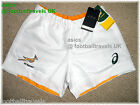 ASICS SOUTH AFRICA SPRINGBOKS 2015 RUGBY PLAYERS MATCH SHORTS NEW ORIGINAL PACK