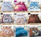 Polycotton Floral, Butterfly, Stripe Animal Duvet Quilt Cover With Pillow Cases