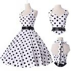 BLACK RED WHITE 1> Vintage Retro Swing 50s pinup Housewife Prom Dress