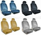 PREMIUM 4pc Front Bucket Seat Covers Double Stitching 8mm Airbag Safe Armrest 1B
