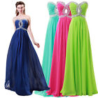 TOP Corset Beaded Long WEDDING Evening Formal Prom Dresses Party Bridesmaid Gown