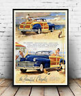 Beautiful Chrysler , vintage motor car  advertising poster reproduction.