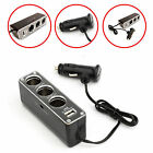 CAR CHARGER SPLITER W 3 CIGARETTE SOCKET & 1 USB PORT FOR VARIOUS MOBILE PHONES