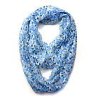 New Fashion Long Soft Floral Print Continuous Loop Funnel Design Infinity Scarf