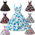 HEPBURN Style Vintage Party Swing 40's 50's Housewife pinup Rockabilly Tea Dress