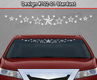 Design #102-01 STARDUST Windshield Decal Window Sticker Vinyl Graphic Star Dust