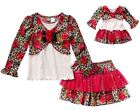 Dollie Me 8 10 and doll matching outfit clothes fit american girl Christmas