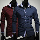 Fashion Shirts Tops For Men Dress Shirts Button Shirt Casual Stylish Long Sleeve