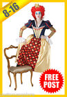 Ladies Costume Fancy Dress Up RD Licensed Queen Of Hearts Alice in Wonderland