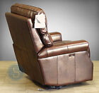 New Barcalounger Lochmere II Power Recliner Wall Proximity Hugger Leather Chair