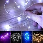 20 LED BATTERY OPERATED MICRO SILVER WIRE STRING FAIRY PARTY XMAS WEDDING LIGHT