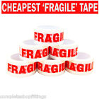 NEW FRAGILE PRINTED STRONG PARCEL TAPE MULTILISTING 12 6 24 36 48mm 66m