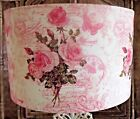 Rose script postcard pink lamp shade,lampshade  shabby chic vintage Free Gift