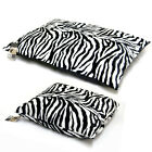 Faux Fur Warm Dog or Cat Pet Bed Pillow Small/Large Washable Zebra Print Zipped