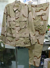 USGI MILITARY ISSUE 3 COLOR DESERT CAMO BDU DCU SHIRT PANT SET RIPSTOP SMALL NEW