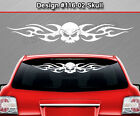 Design #116-02 Skull Back Window Decal Sticker Vinyl Graphic Tribal Flame Car